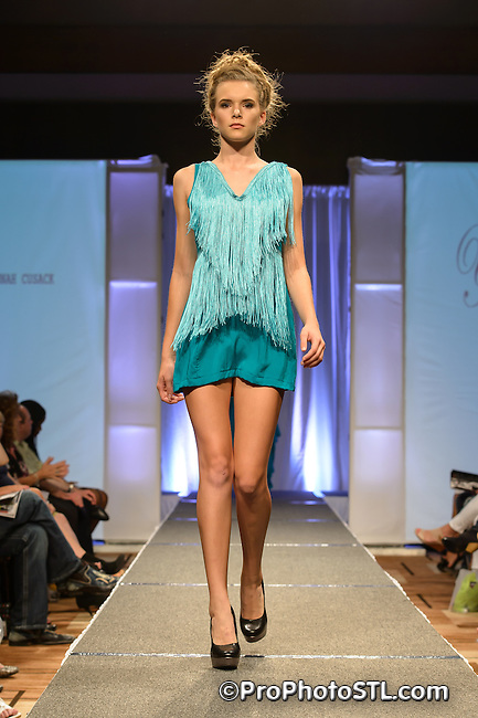 """Flair"" runway show during St. Charles Fashion Week in St. Charles, MO on Aug 23, 2012."