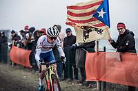 Tom Pidcock (GBR) dominating the Men's U23 race > becoming the new U23 World Champion<br /> <br /> UCI 2019 Cyclocross World Championships<br /> Bogense / Denmark<br /> <br /> ©kramon