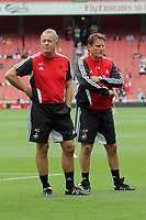 Pictured: Alan Curtis (L) of Swansea City. Saturday 10 September 2011<br />