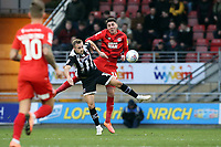 Charles Vernam & O's Dan Happe during Leyton Orient vs Grimsby Town, Sky Bet EFL League 2 Football at The Breyer Group Stadium on 11th January 2020