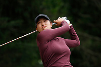 Annie Park (USA) tees off on the 18th hole during the ShopRite LPGA Classic presented by Acer, Seaview Bay Club, Galloway, New Jersey, USA. 6/10/18.<br /> Picture: Golffile   Brian Spurlock<br /> <br /> <br /> All photo usage must carry mandatory copyright credit (&copy; Golffile   Brian Spurlock)