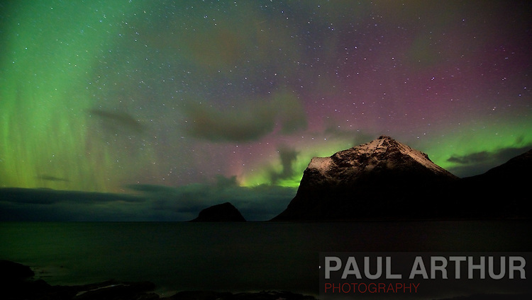 The Northern Lights in the Lofoten Islands, October 2010