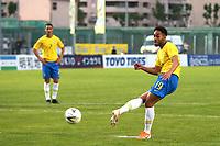 Matheus Cunha scores Brazil'd third goal from the penalty spot during France Under-18 vs Brazil Under-20, Tournoi Maurice Revello Football at Stade d'Honneur Marcel Roustan on 5th June 2019