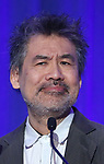 David Henry Hwang on stage during the 2017 Tony Awards Nominations Announcement at The New York Public Library for the Performing Arts on May 2, 2017 in New York City