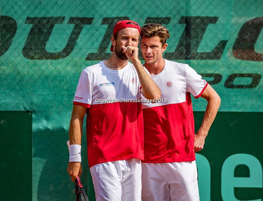 The Hague, Netherlands, 09 June, 2018, Tennis, Play-Offs Competition, Men's doubles: Antal van der Duim (R) and Gero Kretschmer<br /> Photo: Henk Koster/tennisimages.com