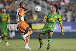 22 September 2012: Carolina's Matt Luzunaris (31) and Tampa Bay's Takuya Yamada (JPN) (32). The Carolina RailHawks played the Tampa Bay Rowdies to a 0-0 tie at WakeMed Soccer Stadium in Cary, NC in a 2012 North American Soccer League (NASL) regular season game.