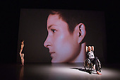 "09/10/2015. London, UK. Robin Dingemans & Nick Bryson's ""The Point At Which It Last Made Sense"" is performed at the Lilian Baylis Studio at Sadler's Wells on 9 October 2015. Performers: Nick Bryson, Michael Turinsky and Marlieke Burghouts. Photo credit: Bettina Strenske"