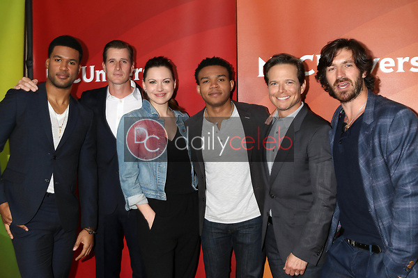 JR Lemon, Brendan Fehr, Jill Flynn, Robert Bailey Jr, Scott Wolf, Eoin Macken<br /> at the NBCUniversal Summer Press Day, Beverly Hilton, Beverly Hills, CA 03-20-17<br /> David Edwards/DailyCeleb.com 818-249-4998