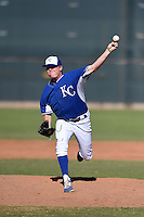 Kansas City Royals pitcher Daniel Stumpf (65) during an Instructional League game against the Cincinnati Reds on October 14, 2014 at Goodyear Training Facility in Goodyear, Arizona.  (Mike Janes/Four Seam Images)