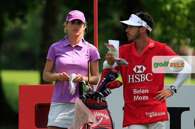 Belen Mozo (ESP) on the 9th tee during Round 3 of the HSBC Women's Champions at the Sentosa Golf Club, The Serapong Course in Singapore on Saturday 7th March 2015.<br /> Picture:  Thos Caffrey / www.golffile.ie