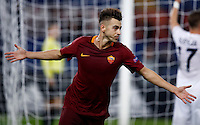 Calcio, Europa League, Gguppo E: Roma vs Austria Vienna. Roma, stadio Olimpico, 20 ottobre 2016.<br /> Roma's Stephan El Shaarawy celebrates after scoring his second goal during the Europa League Group E soccer match between Roma and Austria Wien, at Rome's Olympic stadium, 20 October 2016. The game ended 3-3.<br /> UPDATE IMAGES PRESS/Isabella Bonotto