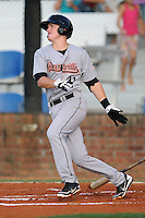 Greeneville Astros first baseman Jesse Wierzbicki #31 swings at a pitch during a game against the Johnson City Cardinals at Howard Johnson Field on July 13, 2011 in Johnson City, Tennessee.  Greeneville won the game 7-4.   (Tony Farlow/Four Seam Images)