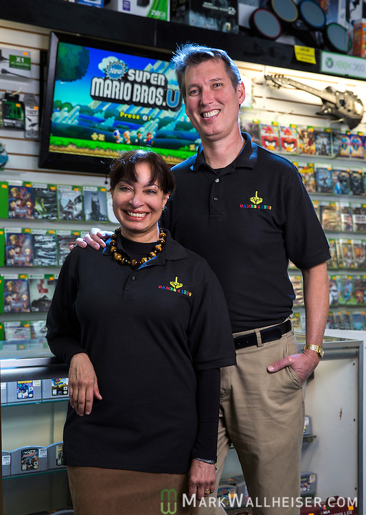 George and Rupy Dyal, owners of Games for Less at 3529 Apalachee Pkwy in Tallahassee, Florida October 20, 2014