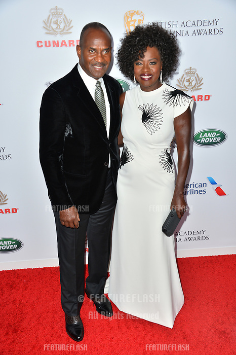 BEVERLY HILLS, CA. October 26, 2018: Viola Davis &amp; Julius Tennon at the 2018 British Academy Britannia Awards at the Beverly Hilton Hotel.<br /> Picture: Paul Smith/Featureflash