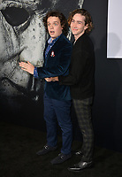 "LOS ANGELES, CA. October 17, 2018: Drew Scheid & Dylan Arnold at the premiere for ""Halloween"" at the TCL Chinese Theatre.<br /> Picture: Paul Smith/Featureflash"