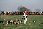 Belvoir Hunt .The Field at the start of the days sport. England.