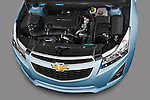 High angle engine detail of a 2013 Chevrolet Cruze SW LTZ wagon