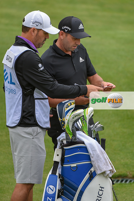 Sergio Garcia (ESP) looks over his chips shot on 2 during day 3 of the WGC Dell Match Play, at the Austin Country Club, Austin, Texas, USA. 3/29/2019.<br /> Picture: Golffile | Ken Murray<br /> <br /> <br /> All photo usage must carry mandatory copyright credit (© Golffile | Ken Murray)