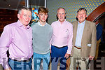 Attending the Masters Classic Final dinner for the Tralee Golf Club in Benners Hotel on Saturday night. L-r,  John O'Brien, Mark Leahy, Richard Barrett and Billy Naughton.