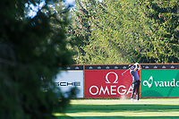 Nicolas Colsaerts (BEL) in action on the 16th hole during second round at the Omega European Masters, Golf Club Crans-sur-Sierre, Crans-Montana, Valais, Switzerland. 30/08/19.<br /> Picture Stefano DiMaria / Golffile.ie<br /> <br /> All photo usage must carry mandatory copyright credit (© Golffile | Stefano DiMaria)