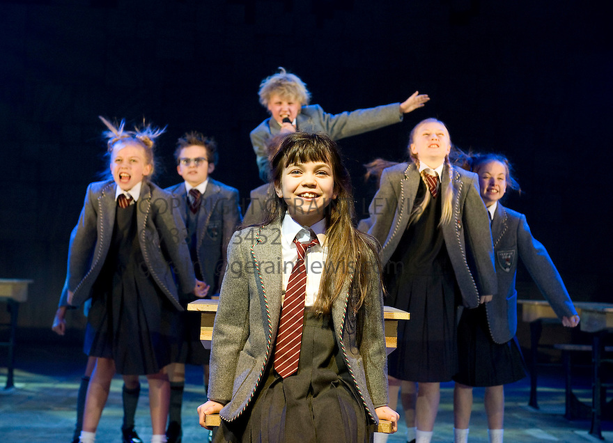 Roald Dahl's Matilda, A Musical. A Royal Shakespeare Company Production.Book by Dennis Kelly,music and lyrics by Tim Minchin,directed by Matthew Warchus.With Adrianna Bertola as Matilda.Opens at The Courtyard Theatre,Stratford Upon Avon on 9/12/10 . CREDIT Geraint Lewis