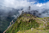 Machu Picchu is certainly the most visited site in Peru.  This Inca city is set high in the Andes Mountains above the very turbulent Urubamba River.