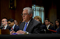 Washington, DC., USA, June 13, 2017. <br /> Secretary Of State Rex Tillerson testifies at the Senate Appropriations Subcommittee on State and Foreign Operations budget funding for FY 2018 Credit: Mark Reinstein/MediaPunch