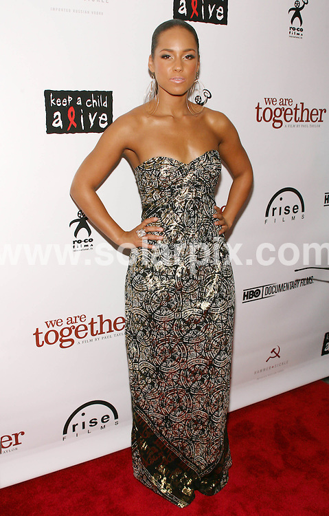 **ALL ROUND PICTURES FROM SOLARPIX.COM**.**SYNDICATION RIGHTS FOR UK, SPAIN, PORTUGAL, AUSTRALIA, S.AFRICA & DUBAI (U.A.E) ONLY**.The R and B singer Alicia Keys attends the We Are Together Premiere at the Directors Guild of America in New York in the  USA.  .This pic:Alicia Keys.JOB REF:6629-PHZ/Sylvain Gaboury  DATE: 12_06-08.**MUST CREDIT SOLARPIX.COM OR DOUBLE FEE WILL BE CHARGED* *UNDER NO CIRCUMSTANCES IS THIS IMAGE TO BE REPRODUCED FOR ANY ONLINE EDITION WITHOUT PRIOR PERMISSION*