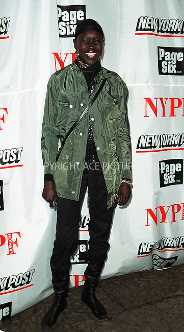 Model ALEK WEK attending the launch of the full color fashion supplement of the New York Post hosted by Sarah and Lachlan Murdoch at the Mercer Kitchen Restaurant in New York. February 7, 2002. © 2002 by Alecsey Boldeskul/NY Photo Press.   ..*ONE-TIME REPRODUCTION RIGHTS*      ....NY Photo Press:  ..phone (646) 267-6913;   ..e-mail: info@nyphotopress.com