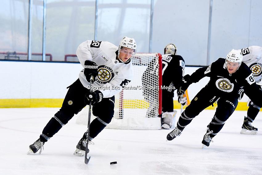 June 26, 2018: Boston Bruins defenseman Dustyn McFaul (38) skates during the Boston Bruins development camp held at Warrior Ice Arena in Brighton Mass. Eric Canha/CSM