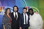 Bianca Mendler, Chris D'Elia - Brent Morin - Ron Funches - Undateable - NBC Upfront at Radio City, New York City, New York on May 11, 2015 (Photos by Sue Coflin/Max Photos)