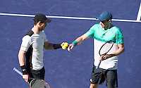 COLIN FLEMING (GBR), ANDY MURRAY (GBR)<br /> BNP PARIBAS OPEN, INDIAN WELLS, TENNIS GARDEN, INDIAN WELLS, CALIFORNIA, USA<br /> <br /> &copy; AMN IMAGES
