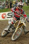 Motocross, MX2 WM 2004, Weltmeisterschaft, Grand Prix of Europe, Gaildorf (Germany) Marvin van Daele (BEL), Suzuki