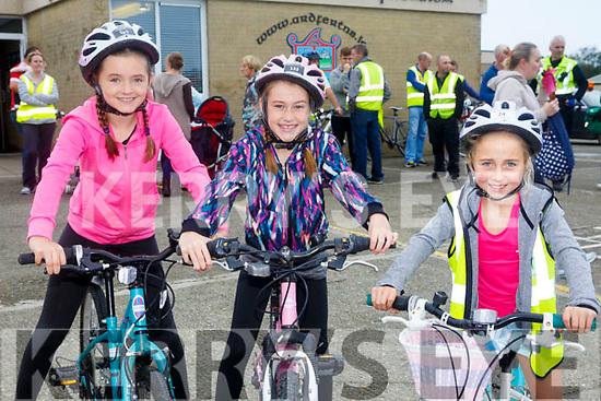 Enjoying the ARDFERT Harvest  Kids Fun Cycle on Sunday were Liadain Ferris, Oirliath McGarth and Clara Daly