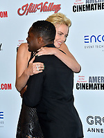 LOS ANGELES, USA. November 09, 2019: Charlize Theron & David Oyelowo at the American Cinematheque Award Gala honoring Charlize Theron at the Beverly Hilton.<br /> Picture: Paul Smith/Featureflash