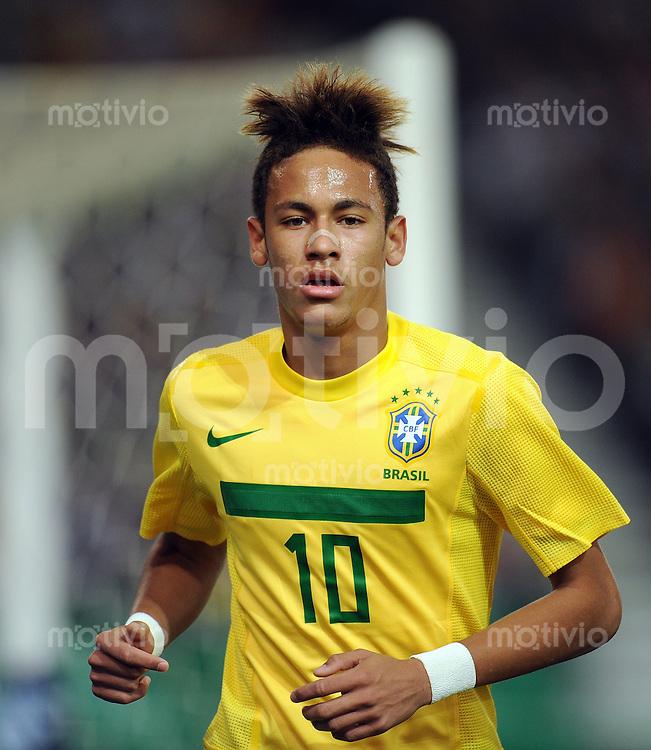 FUSSBALL INTERNATIONAL  Freundschaftsspiel  10.08.2011 Deutschland - Brasilien NEYMAR (Brasilien)