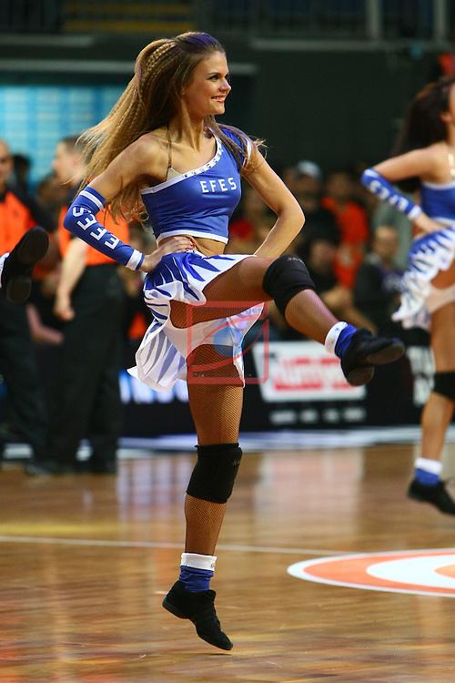 Zalguiris Cheerleaders (Cheer Up Dancers). Panathinaikos vs FC Barcelona Regal: 69-74 - Third Place - Final Four Istanbul 2012.