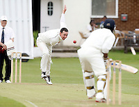 D Eckford of North Middlesex bowls to A Range during the Middlesex County Cricket League Division Two game between North Middlesex and South Hampstead at Park Road, Crouch End on Saturday June 12, 2010