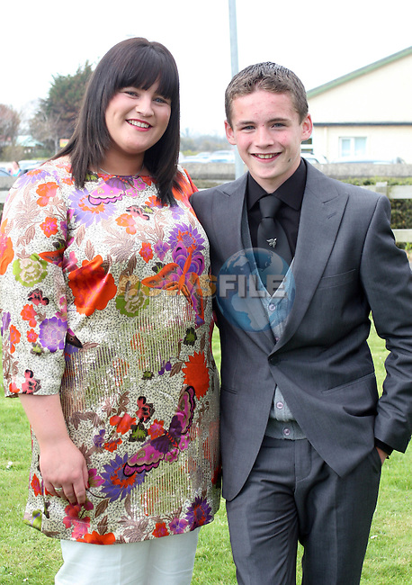 Nathan Noone Garland and Genevieve Noone at Scoil an Spioraid Naoimh NS Confirmation in Laytown Church...Photo NEWSFILE/Jenny Matthews.(Photo credit should read Jenny Matthews/NEWSFILE)....This Picture has been sent you under the condtions enclosed by:.Newsfile Ltd..The Studio,.Millmount Abbey,.Drogheda,.Co Meath..Ireland..Tel: +353(0)41-9871240.Fax: +353(0)41-9871260.GSM: +353(0)86-2500958.email: pictures@newsfile.ie.www.newsfile.ie.FTP: 193.120.102.198.