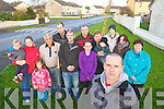 Listowel Councillor and feale Drive resident Tom Barry with residents of Feale drive who are looking for CCTV cameras in Feale drive to combat anti social behaviour, from left Cian, Labhaoise, and Yvonne O'Sullivan, Patrick O'Connor, William Brennan, Eugene Wekes, Sean Kelly, Jessica Wekes, Pat Barry, Bobby Stack, Tim O'Loughlan, Mary Brosnan and Theresa O'Sullivan.