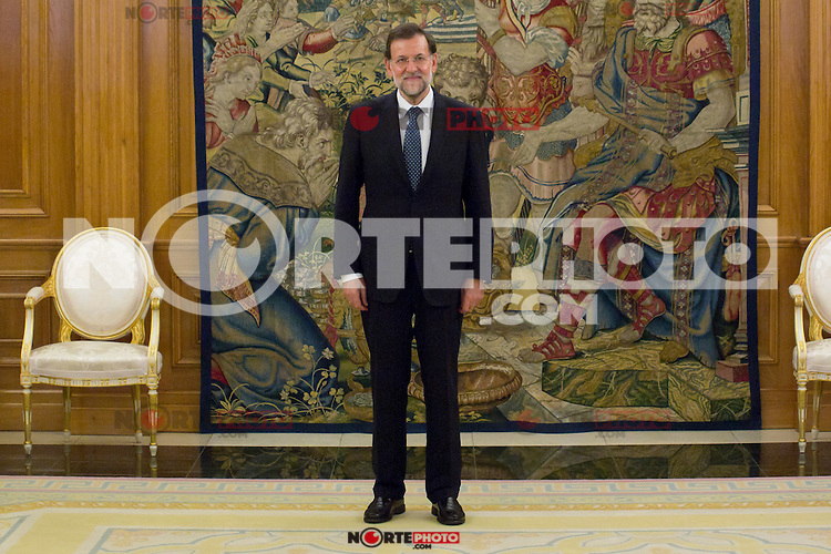 22.08.2012. King Juan Carlos of Spain receives the President of the Government of Spain Mariano Rajoy Brey in the Zarzuela Palace in Madrid. In the image Mariano Rajoy Brey (Alterphotos/Marta Gonzalez) /NortePhoto.com<br /> <br /> **SOLO*VENTA*EN*MEXICO**<br /> **CREDITO*OBLIGATORIO**<br /> *No*Venta*A*Terceros*<br /> *No*Sale*So*third*<br /> *** No Se Permite Hacer Archivo**<br /> *No*Sale*So*third*