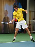Januari 24, 2015, Rotterdam, ABNAMRO, Supermatch, Yannick Ebbinghaus<br /> Photo: Tennisimages/Henk Koster