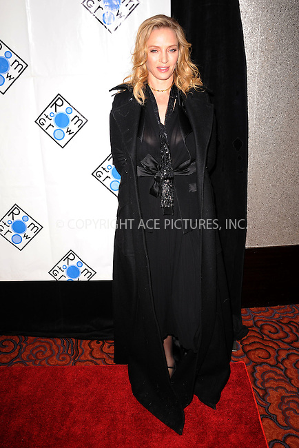 WWW.ACEPIXS.COM . . . . . February 6, 2012...New York City....Uma Thurman attends the Room to Grow Gala at at The Mandarin Oriental Hotel on February 6, 2012 in New York City....Please byline: KRISTIN CALLAHAN - ACEPIXS.COM.. . . . . . ..Ace Pictures, Inc: ..tel: (212) 243 8787 or (646) 769 0430..e-mail: info@acepixs.com..web: http://www.acepixs.com .