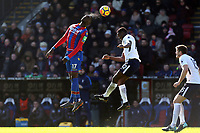 Christian Benteke of Crystal Palace and Victor Wanyama of Tottenham Hotspur during Crystal Palace vs Tottenham Hotspur, Premier League Football at Selhurst Park on 25th February 2018