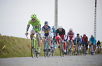 Ronde van Vlaanderen 2013..Peter Sagan (SVK) decending the Steenbeekdries
