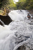 Santa Leopoldina_ES, Brasil...Cachoeira sem nome, no terreno da Pousada Fazenda Ecologica...Unnamed waterfall in the Fazenda Ecologica hotel...Foto: LEO DRUMOND / NITRO