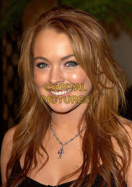 LINDSAY LOHAN.The World Premiere of The Perfect Score held at The Cinerama Dome in Hollywood, California .27 January 2004                                                   .*UK Sales Only*.portrait, headshot, necklace.www.capitalpictures.com.sales@capitalpictures.com.©Capital Pictures.