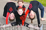 6722- 6735.GYMNASTICS: Niamh O'Connor, Amy Maher, Aisling O'Malley and Gabrielle Browne from Tralee Gymnastics School demonstrating some of their skills in gymnastics on Sunday at Tralee Sports Centre.  . . . . .
