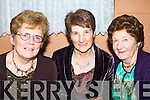 Jean Breen, Finuge, Jean McCarthy, Listowel and Peg Larkin, Ballybunion having a chat at the North Kerry pioneers social at Kirby's Lanterns Hotel on Friday night..