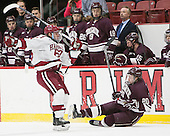Colin Blackwell (Harvard - 63), Brett Corkey (Colgate - 20) - The Harvard University Crimson defeated the visiting Colgate University Raiders 7-4 (EN) on Saturday, February 20, 2016, at Bright-Landry Hockey Center in Boston, Massachusetts,